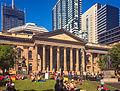 State Libray of Victoria (Main Entrance & Forecourt - Swanston St), Melbourne.jpg