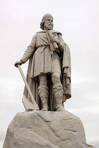 Statue of Alfred the Great, by Prince Victor of Hohenlohe-Langenburg Statue of King Alfred in Wantage Market Square.jpg