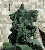 Statue de Saladin à Damas