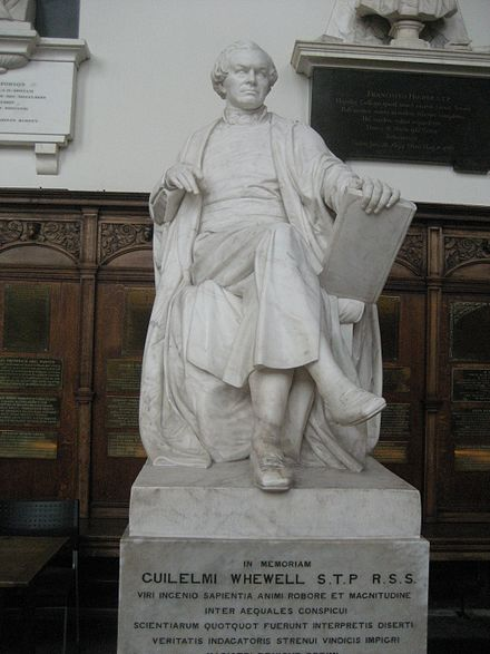 Statue of Whewell by Thomas Woolner in Trinity College Chapel, Cambridge