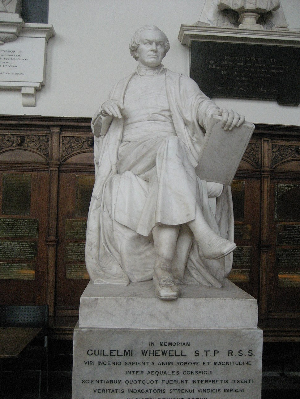 Statue of William Whewell at Trinity College, Cambridge