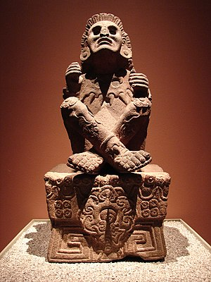 Xochipilli - Statue of Xochipilli (From the National Museum of Anthropology, Mexico City)