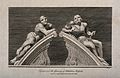 "Statues of ""raving"" and ""melancholy"" madness, each reclining Wellcome V0013197.jpg"