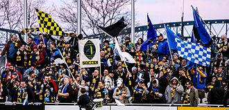 Pittsburgh Riverhounds SC - Image: Steel Army at Highmark Stadium Home Opener