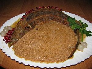 Satsivi - Sterlet with satsivi