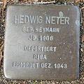 Stolperstein Bad Bentheim Dorfstraße 21 Hedwig Neter.JPG
