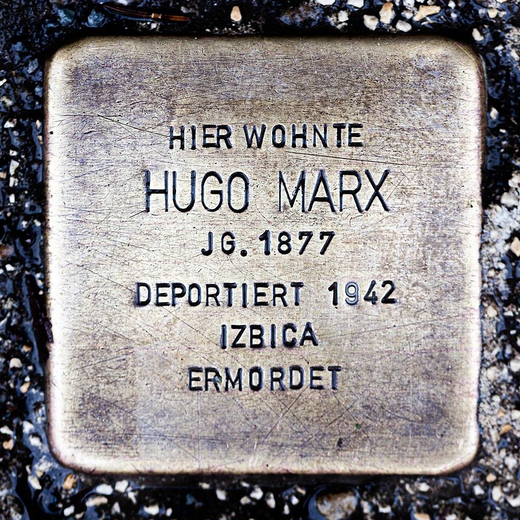 Stolperstein CC Hugo Marx 1877-1942.jpg