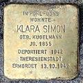 Stolperstein Klara Simon (Rechtenbacher Straße 2 Pohl-Göns).jpg