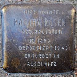 Photo of Martha Rosen brass plaque