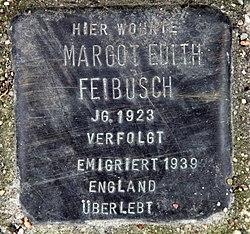 Photo of Margot Edith Braun brass plaque