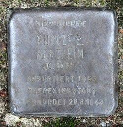 Photo of Rudolf Bertheim brass plaque