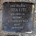 Stolperstein Schulstr 107 (Weddi) Rosa Witt.jpg