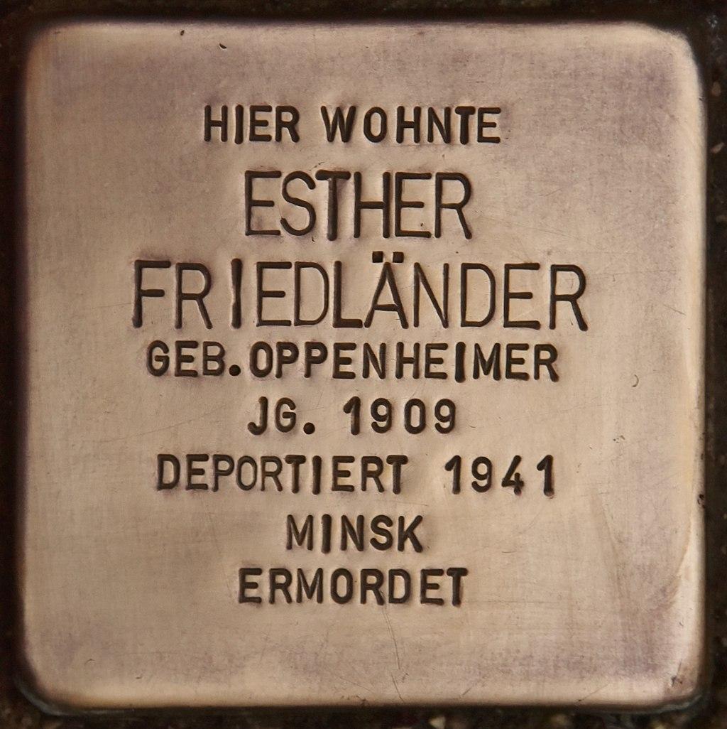 Stolperstein für Esther Friedländer (Marktbreit).jpg