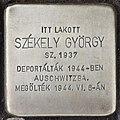 Stolperstein für György Szekely (Nyíregyháza).jpg