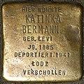 Stumbling block for Katinka Bermann (Jahnstraße 20)