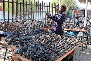 Bruma, Gauteng - A trader at the market