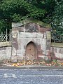 Stone trough by Harthill school gate - geograph.org.uk - 1563278.jpg