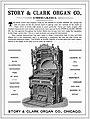 Story & Clark Organ Co., Chicago, Illinois, Advertisement, 1891 November 25.jpg