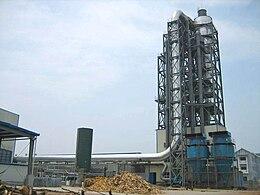 Essiccatore industriale per materiali fibrosi.