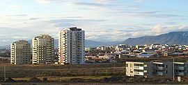 Suburban Reykjavík. With a population density of only about 190/km², the Reykjavík metropolitan area is being subject to large scale urban sprawl.