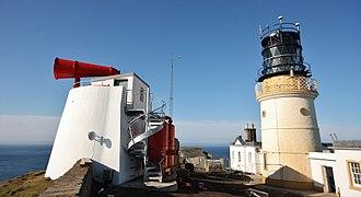 Sumburgh Head Lighthouse - Foghorn and lighthouse