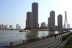 Urbosilueto de Chūō Ward de Sumida Rivero