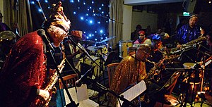 Sun Ra - The Sun Ra Arkestra performing in London in 2010.