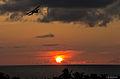 Sunset and a plane, Varadero, Cuba. (5979965226).jpg