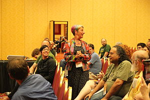 Susan Blackmore - Blackmore at a workshop at The Amaz!ng Meeting in 2013