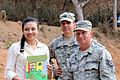 Susana Evangelina Paiz Gonzalez, the school director, smiles after receiving a gift from Tech. Sgt. Riley Kendrick April 17 140417-Z-SY554-002.jpg