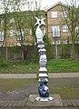 Sustrans milepost, Erith - geograph.org.uk - 753022.jpg