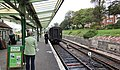 Swanage railway station. Main platform. View towards Corfe.jpg