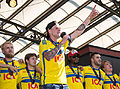 Sweden national under-21 football team celebrates in June 2015-7.jpg