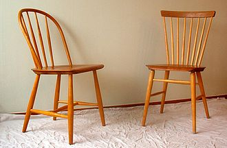Småland - Traditional Windsor chairs perhaps made in Småland