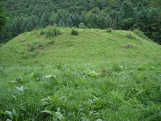 Margaret Hanmer - Sycharth from field, showing motte