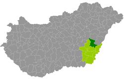 magyarország térkép szeghalom Szeghalom District   Wikipedia magyarország térkép szeghalom