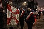 Sztandar NSZZ Solidarność podczas uroczystości odsłonięcia pomnika Prezydenta Lecha Kaczyńskiego.jpg