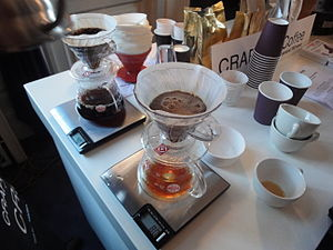 Coffee preparation - Filter coffee being brewed