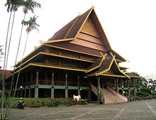 Often used in palace architecture of malay kings and in government