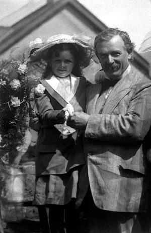 Megan Lloyd George - Megan with her father