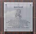 Tablica Jacek Kuroń skwer Jacka Kuronia w Warszawie.jpg