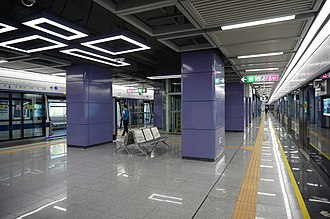 Tai'an station (Shenzhen Metro) - Image: Tai'an Station Line 7 Platform