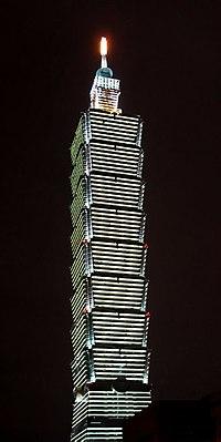 台北101大樓是目前全世界使用中最高的摩天大樓,並在台灣意象活動獲選為第三名。