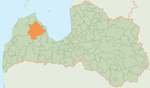 Talsi Municipality - Image: Talsu novada karte