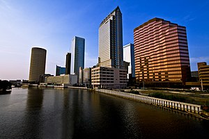 Hillsborough River (Florida) - Image: Tampa Skyline