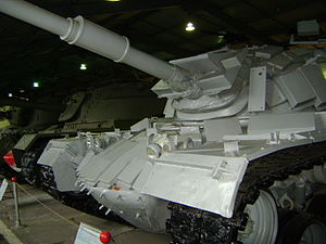 Battle of Sultan Yacoub - One of captured Israeli ERA-equipped M48 tanks at the Kubinka Tank Museum