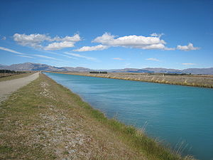 Mackenzie Basin - Many canals have been built in the Basin, diverting water to generate hydroelectricity.