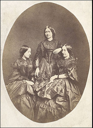 Frances Eleanor Jarman - Her three daughters: Maria Ternan, Ellen Ternan and Frances Eleanor Trollope