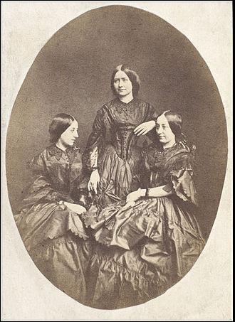 Frances Eleanor Jarman - Her three daughters: Maria Ternan, Ellen Ternan and Frances Eleanor Trollope