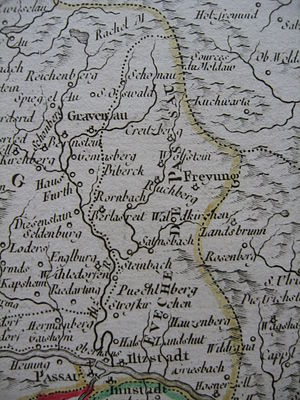 Roman Catholic Diocese of Passau - The Prince-Bishopric of Passau, circa 1760. It was much smaller than the diocese of the same name.